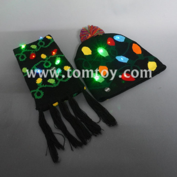 light up christmas beanie hat and scarf tm06922.jpg
