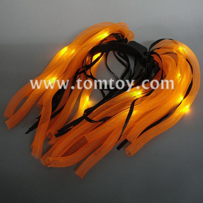 orange led noodle headband flashing dreads tm03019-og.jpg