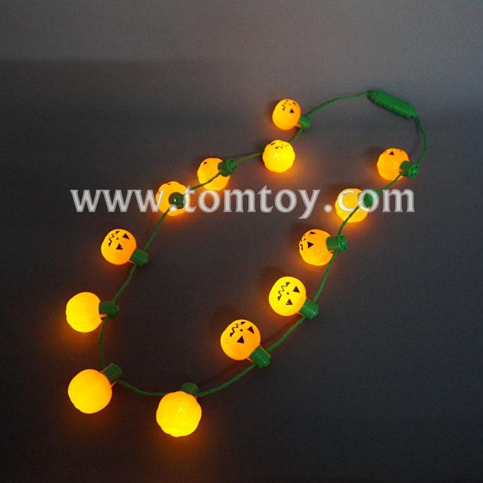 13 lights orange pumpkin necklace tm101-161-or.jpg