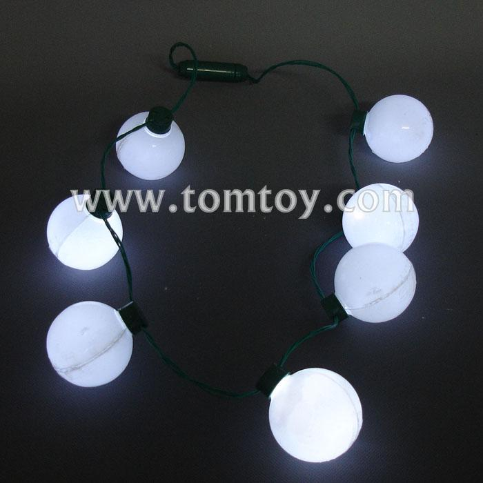 7 white led round bulb necklace tm025-099.jpg