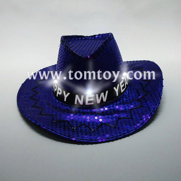 blue sequin light up led cowboy hat tm02965.jpg