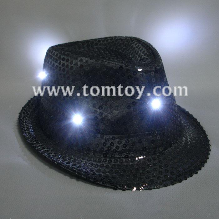 classic led light up fedora hats tm000-049-bk.jpg