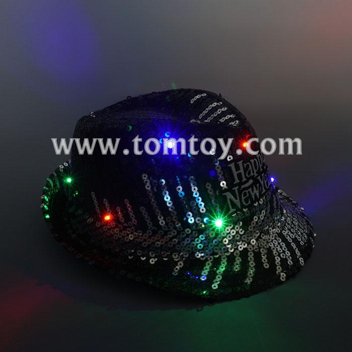 cool light up sequin fedora hat tm03149-bk.jpg