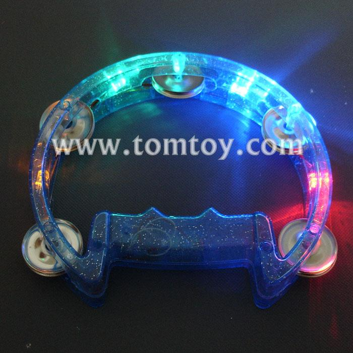 d shape led flashing tambourine tm02368-bl.jpg