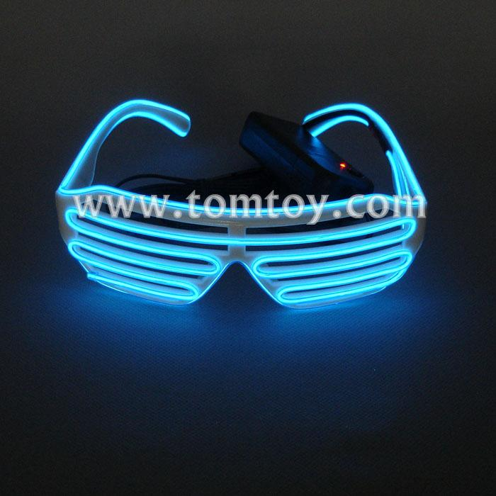 EL Wire Light Up Shutter Glasses-Tomtoy