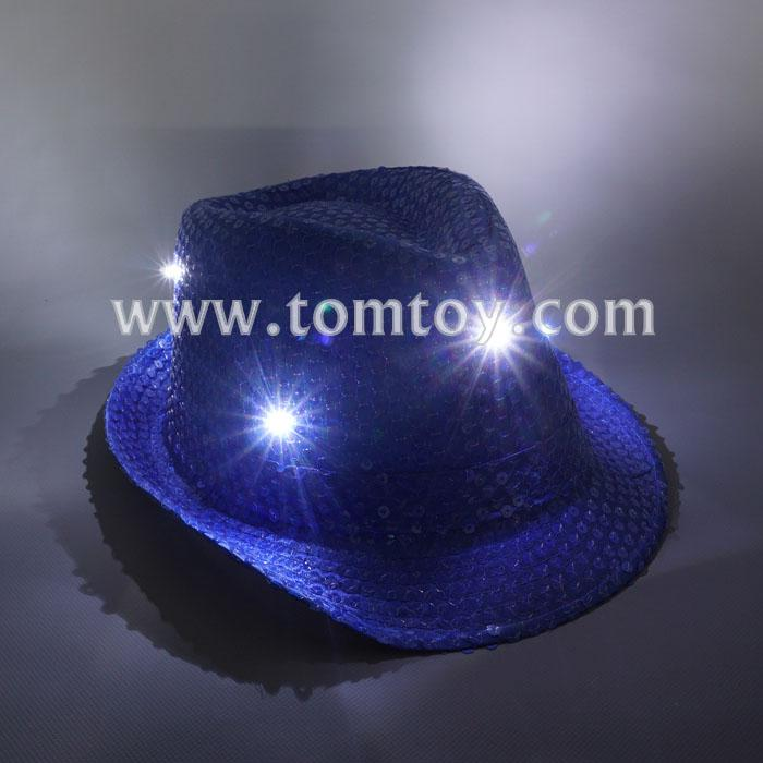 fashion led sequin fedora hat tm03144-bl.jpg