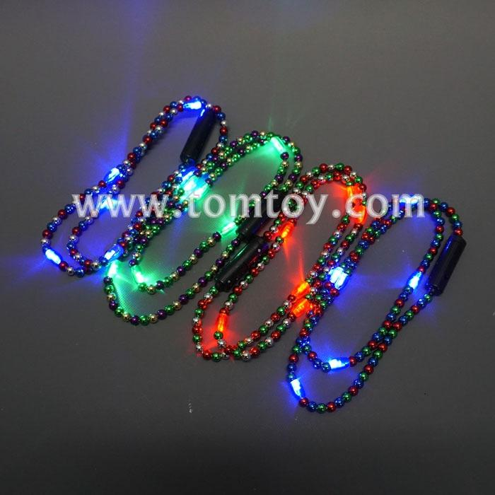flashing mixed multicolored six lights bead necklace tm00706.jpg