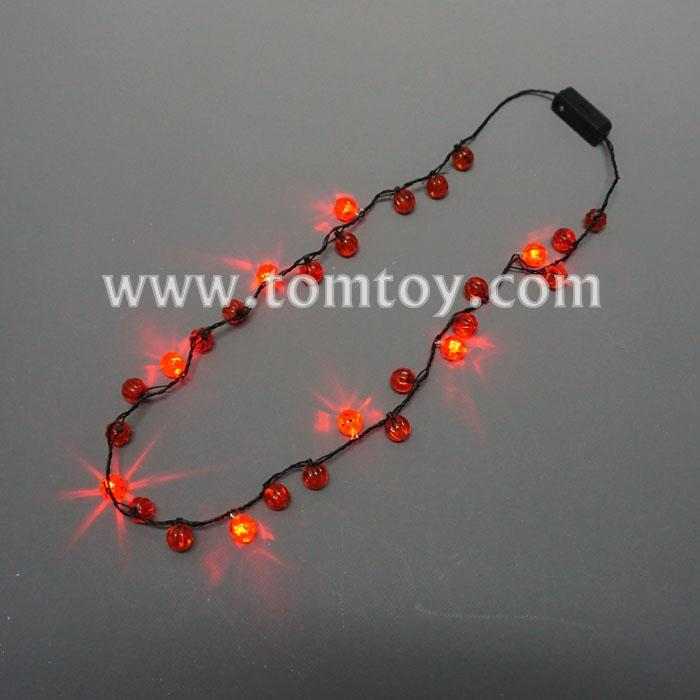 flashing pumpkin string halloween necklace tm02734.jpg