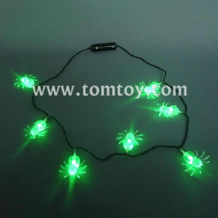 halloween led light up spider necklace tm041-086 .jpg