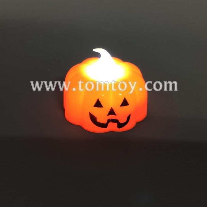 halloween led pumpkin tea candle tm05503.jpg