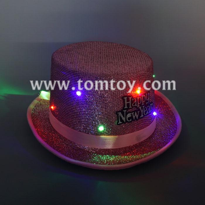 happy new year led fedora hats tm03147-pk.jpg