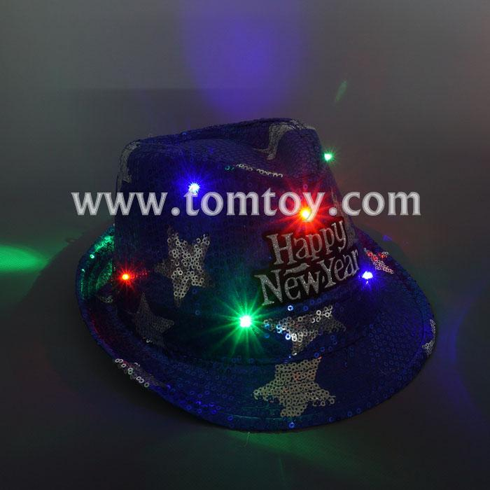 happy new year light up fedora hat tm03145-bl.jpg