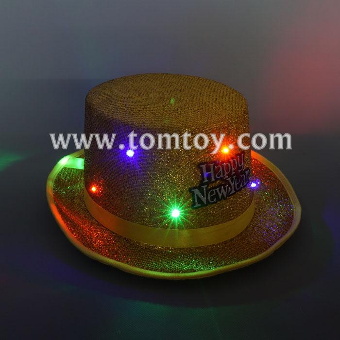 happy new year light up fedora hats tm03147-gd.jpg