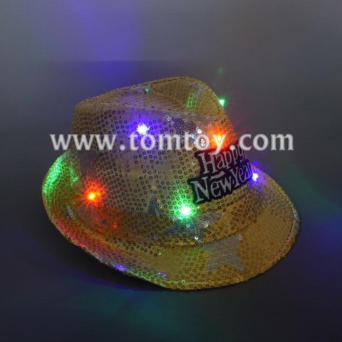 happy new year sequin fedora hat tm03145-yl.jpg
