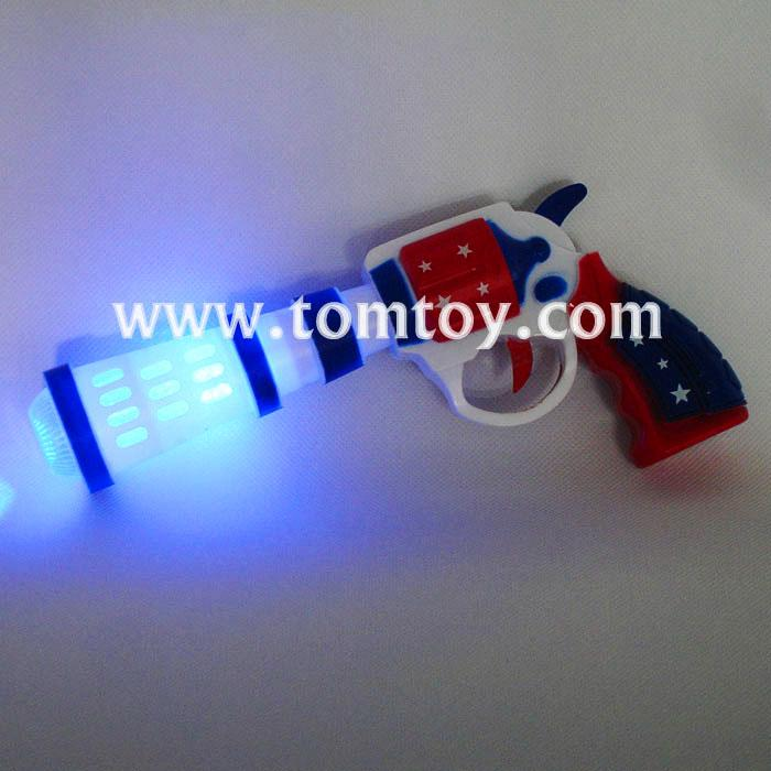 kids police pistol gun toy with action lights and sounds, brightly colored tm02976.jpg
