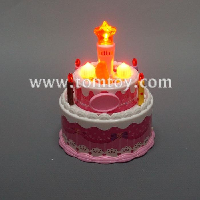 Terrific Led Birthday Cake With Song Tomtoy Funny Birthday Cards Online Alyptdamsfinfo