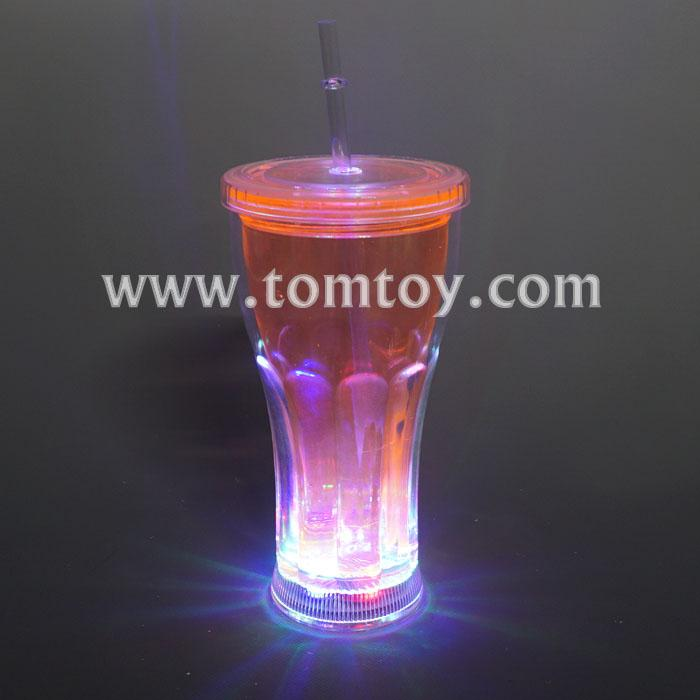led flashing coca cola drinking gup with lid and straw tm03199.jpg