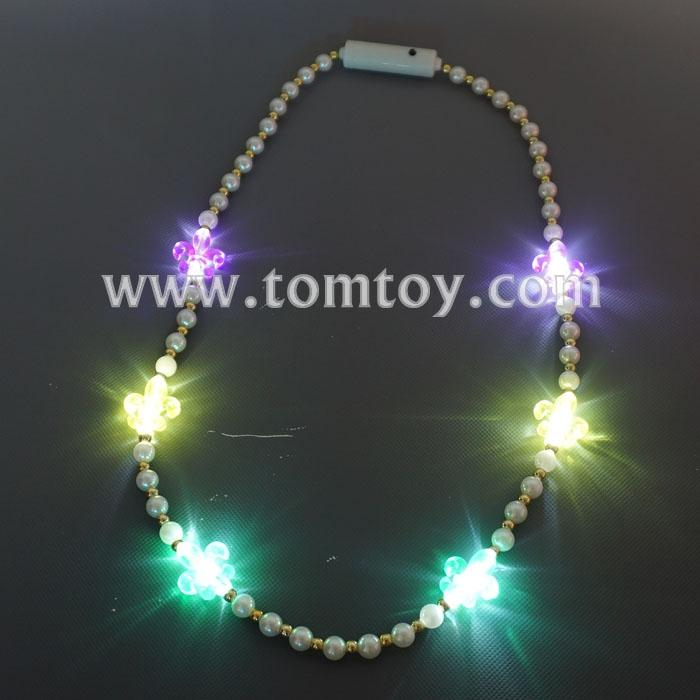 led fleur-de-lys beads necklace tm03495.jpg