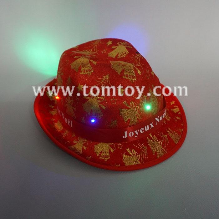 led golden pattern christmas fedora hats tm02948.jpg
