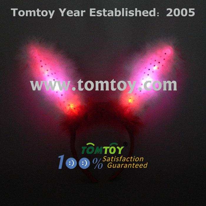 led light up flashing fluffy bunny ears tm025-044rw.jpg