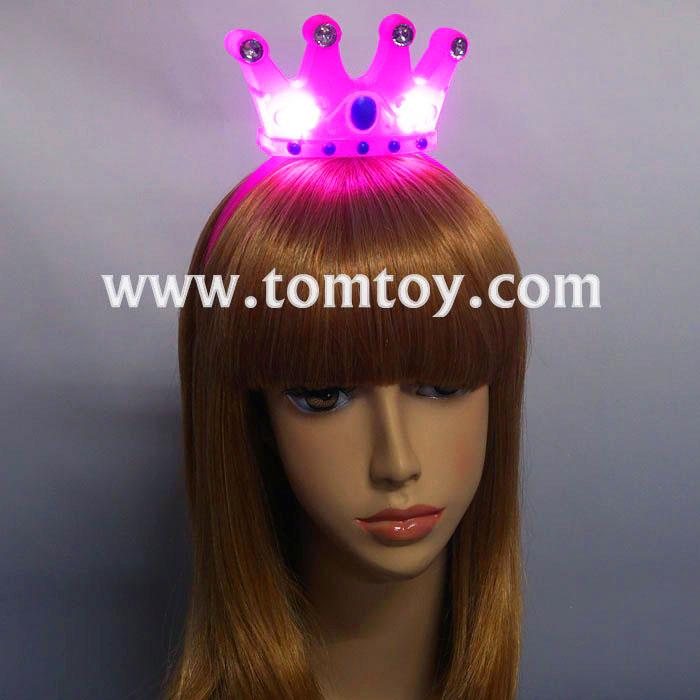 led light up girls shiny crown hairband tm03092.jpg