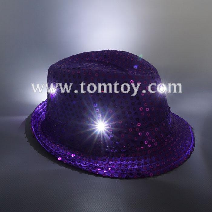 led light up sequin fedora hats tm03144-pl.jpg