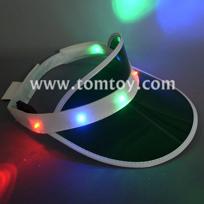 led light up sun visor hat tm206-034-gn.jpg