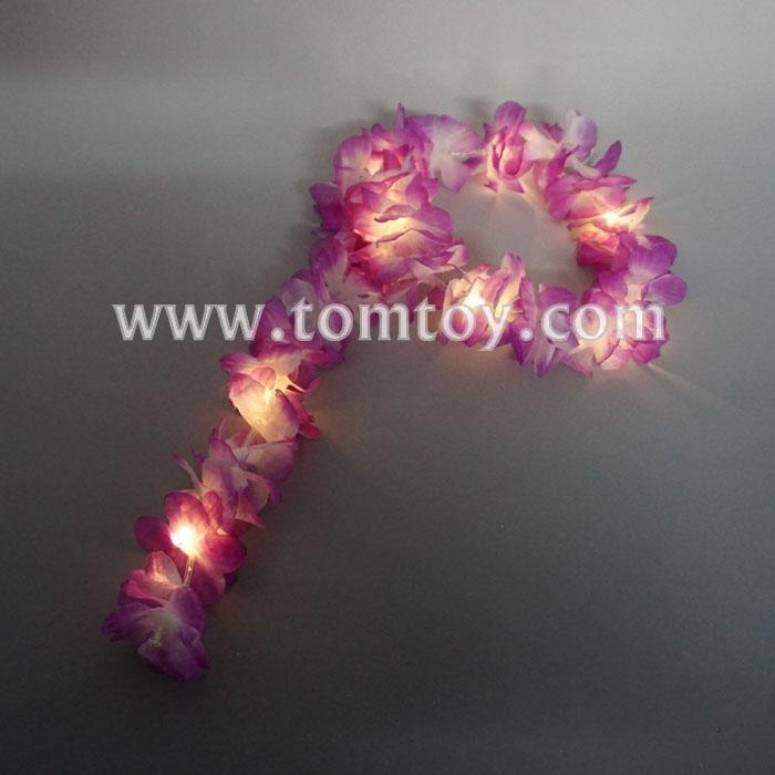 led purple flowers leis headband tm02672.jpg