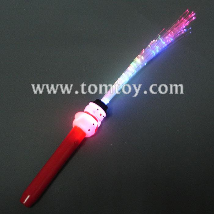 light snowman led optic fiber stick tm013-033-snowman.jpg