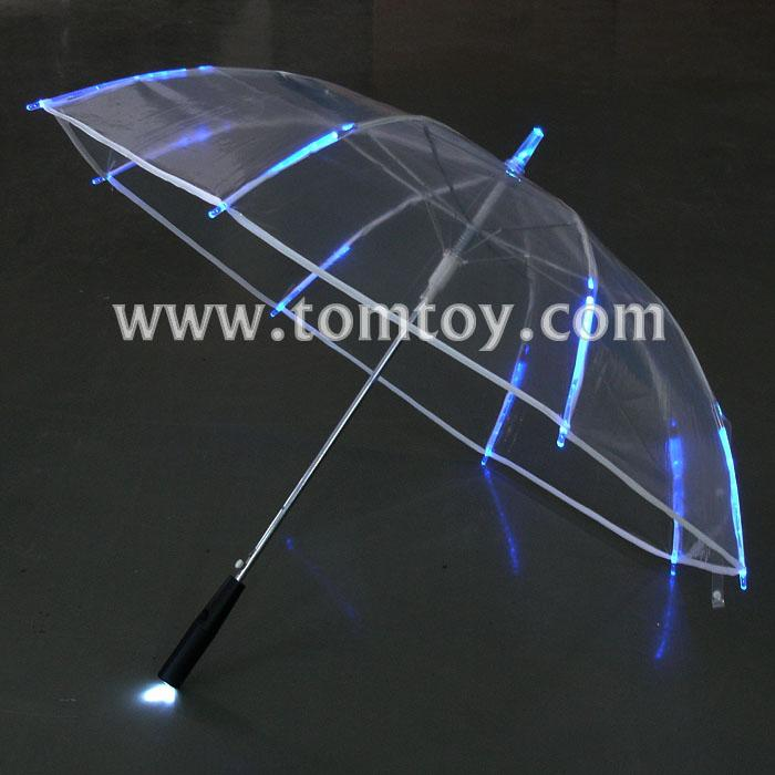 light up clear umbrella with blue leds tm104-001.jpg
