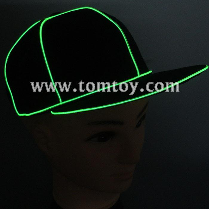 light up el wire snapback hats tm259-001-gn.jpg
