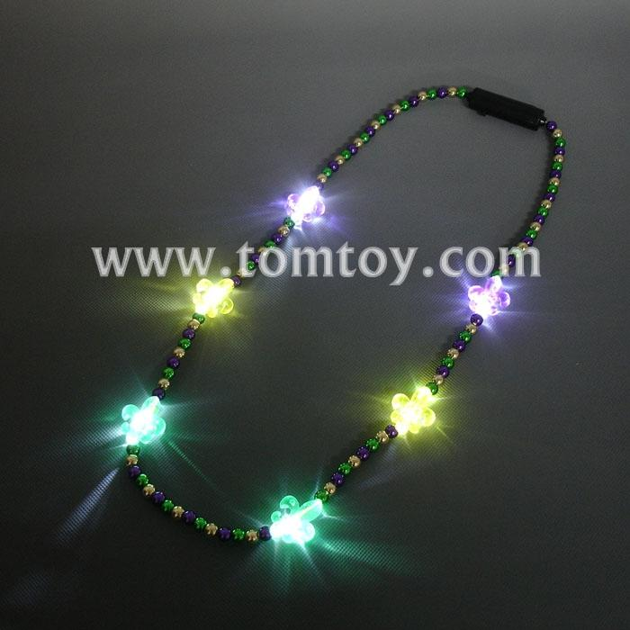 light up fleur de lis beads necklace tm00716-pgg.jpg