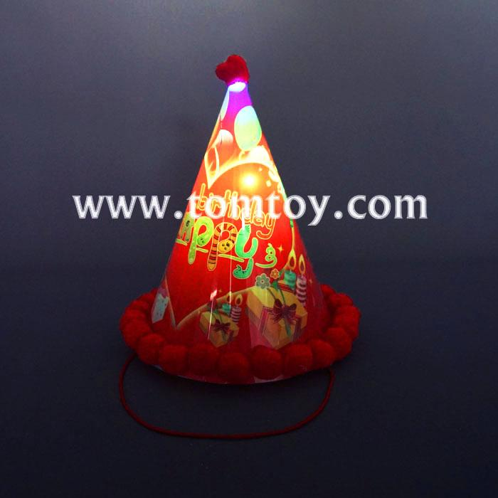 light up lovely kids cone birthday party hats for children tm02958.jpg