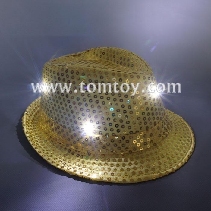 light up sequin fedora hat tm03144-gd.jpg