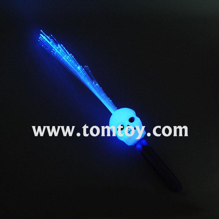 light up skull head fiber optic stick tm00344.jpg