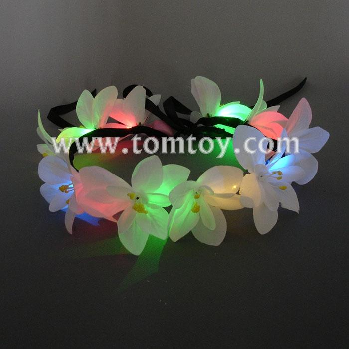 lily flower crown with adjustable ribbon for wedding festivals tm03009.jpg