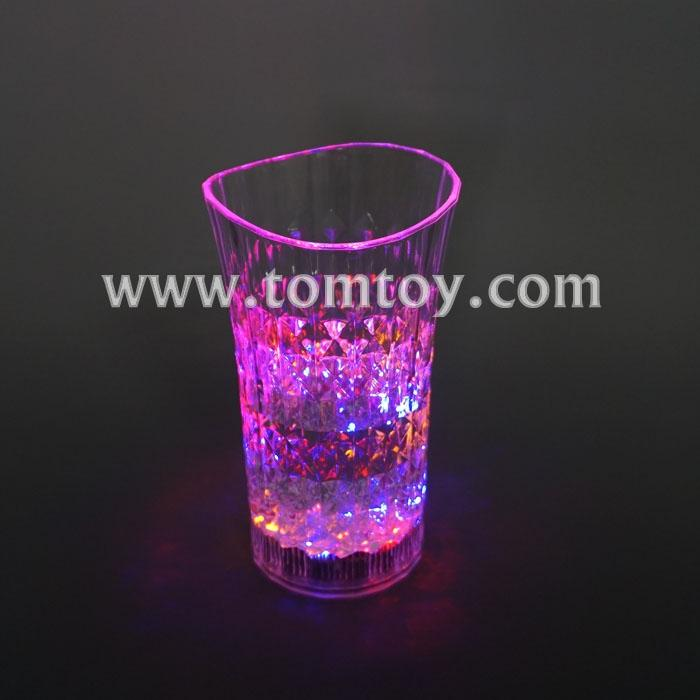 multicolor curved glass flashing cup tm02912.jpg