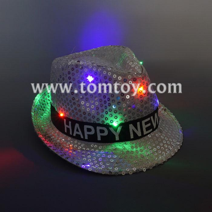 new year led sequin fedora hat tm03150-sr.jpg