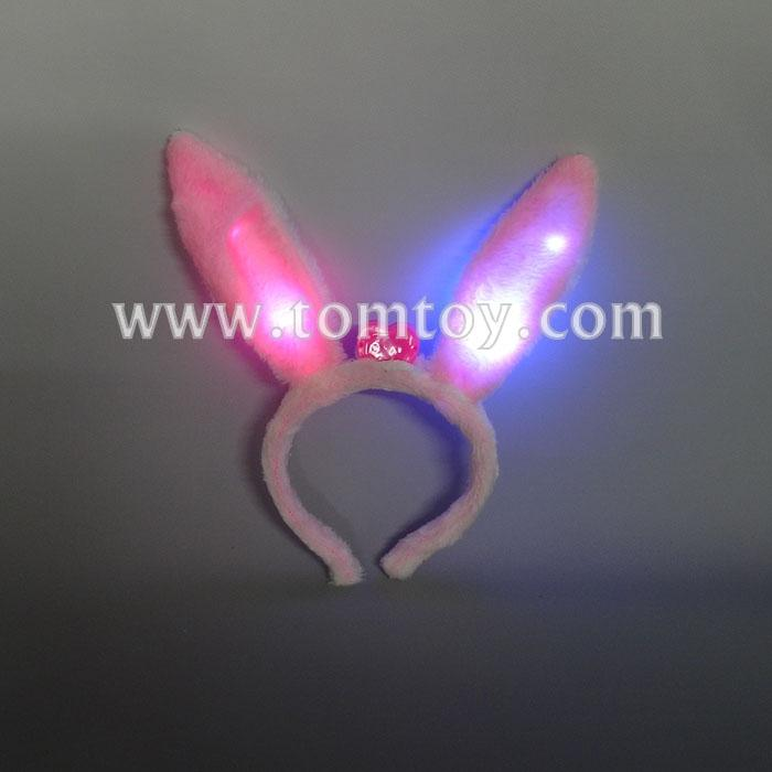 pink cute light up rabbit ear headband tm02738.jpg