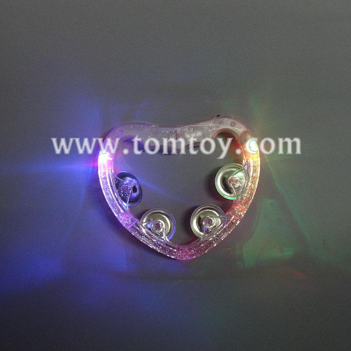 pink heart lighted tambourines tm02370.jpg