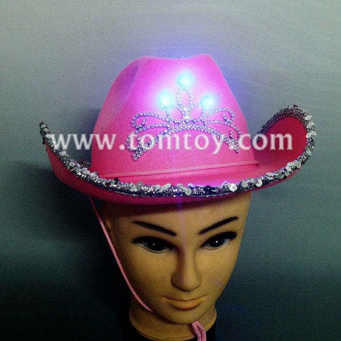 pink light up cowboy hats for women tm02196.jpg