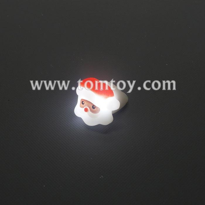 Santa claus light up rings tomtoy