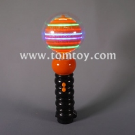 10 led pumpkin spinner wand tm052-095