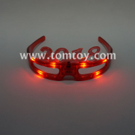 2018 flashing red led glasses tm02640