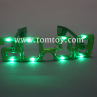 2019 led new year light up glasses tm03640-gn