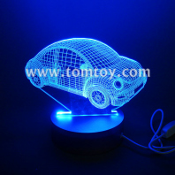 3d led car shaped night light tm00585