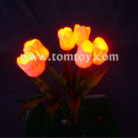 3d led tulip flower fiber centerpiece tm01087