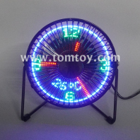 4 inches usb led clock fan tm06676