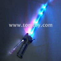 6 led flashing fiber shark pirate saber tm090-013