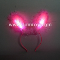 6led light up bunny ears premium tm102-025-pk